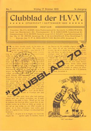 "Jubileumuitgave van het clubblad ""Clubblad 70"" (1983)"