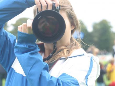 Fotograaf Maaike voor de elftalfoto s