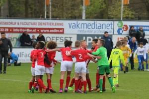 Grote vreugde bij PSV U09 na het behalen van het kampioenschap