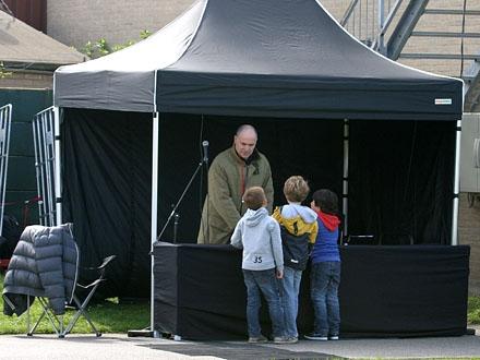 Stadion speaker Louk Notten was wederom present
